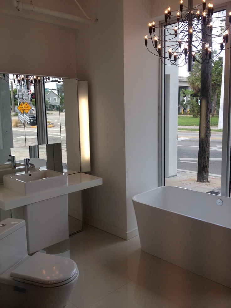 Storefront Display At Our New Showroom In The Miami Design District.  Duravit Mirrorwall And Victoria