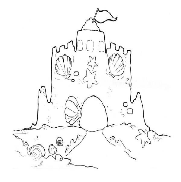 43 Best Beach Ocean Preschool Images On Pinterest Ocean Sandcastle Coloring Page