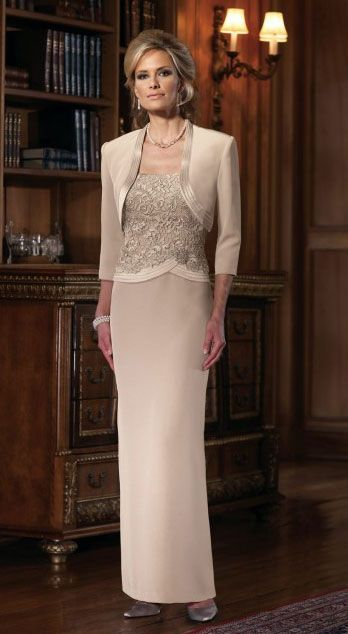 mother of the bride dress. This is one elegant dress! Love it in tea length .
