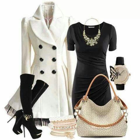 Love the dress and the coat!!!