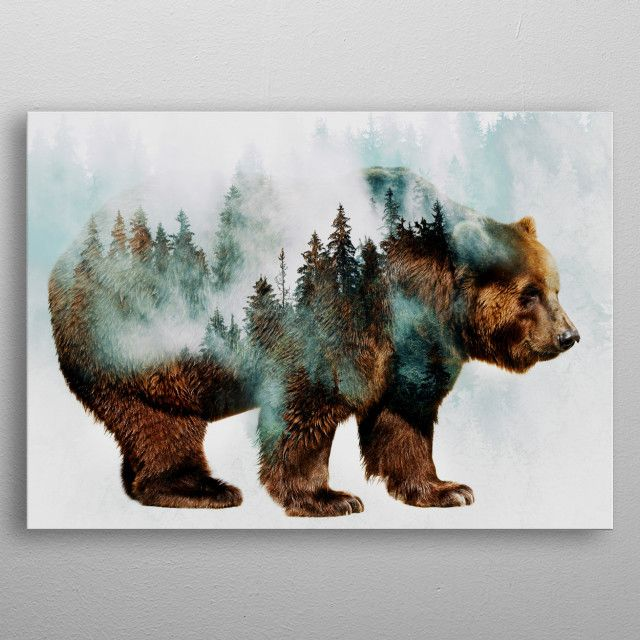 Bear 4 Nature Poster Print Metal Posters In 2020 Bear