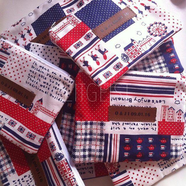 Britain pouch canvas, souvenir pernikahan