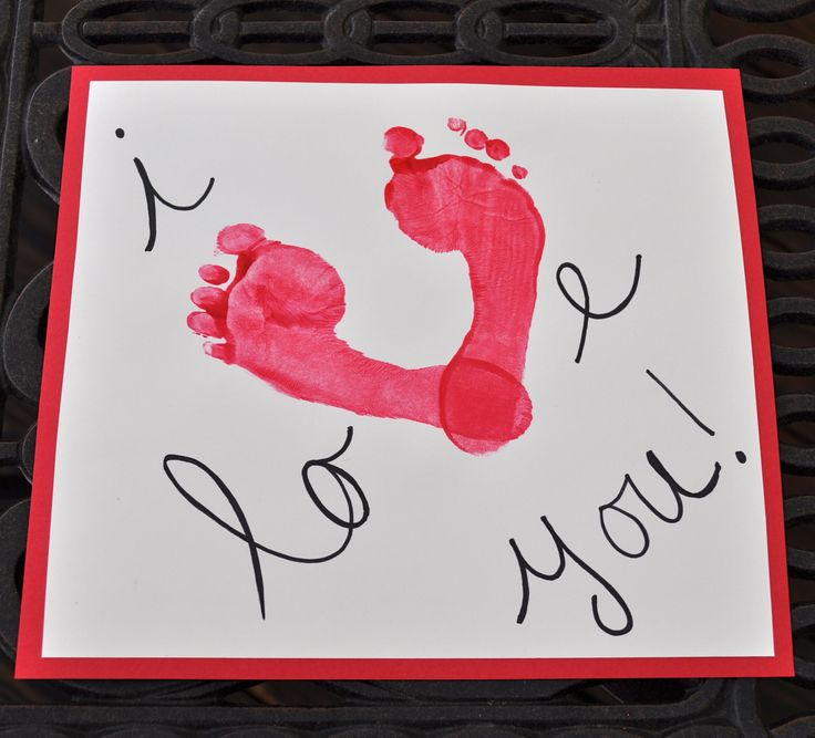 Valentine's Day Foot Print Craft