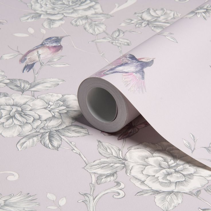 Colours Evelyn Grey Floral Wallpaper