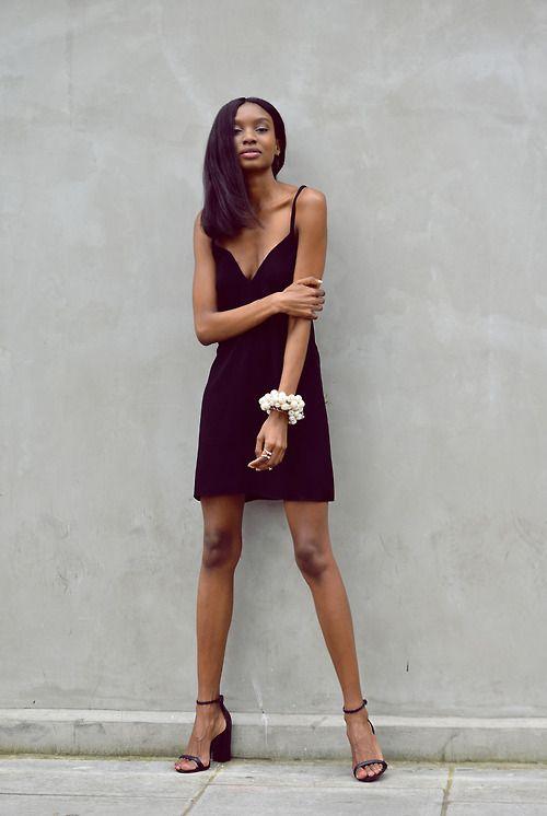 black dress + heels - s/s
