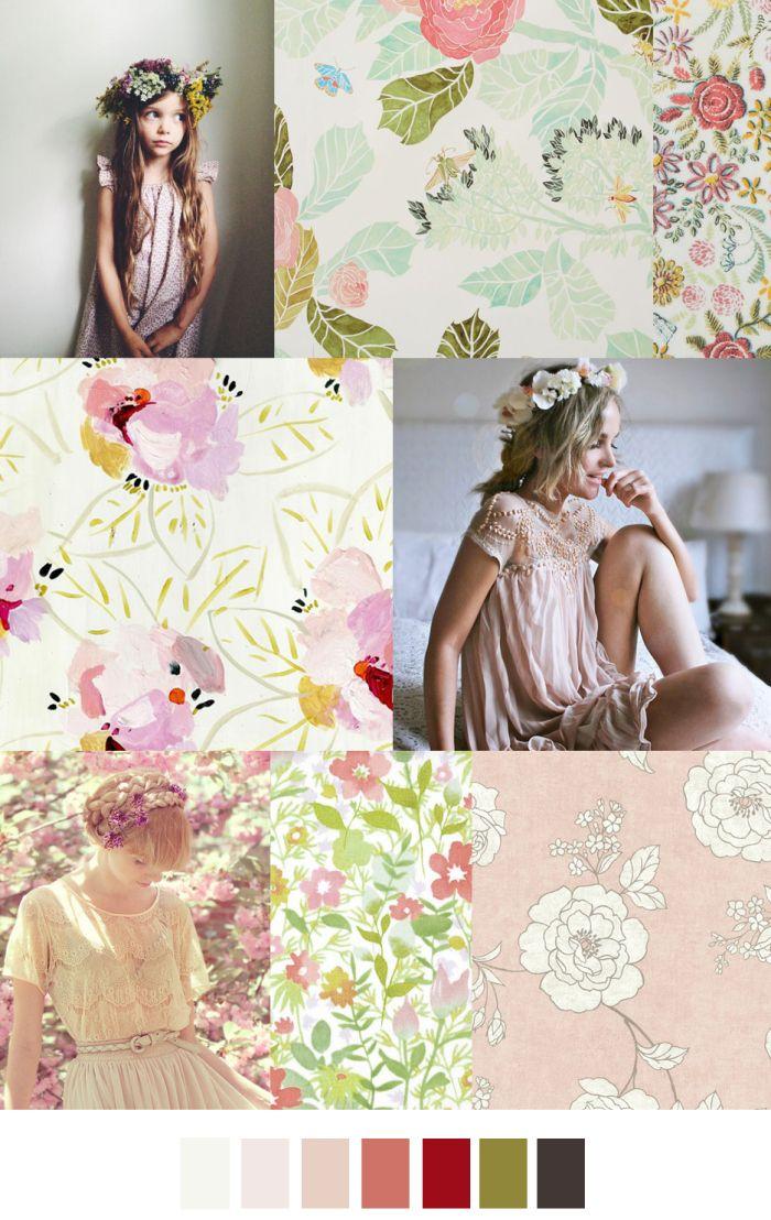 TREND #Summer2016 #PaleFlowers #FlowerGirl - Sources@patterncurator FLOWER GIRL