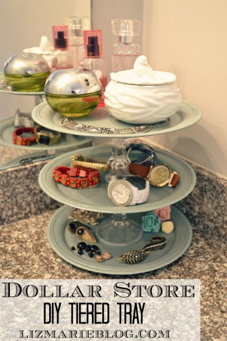 what a great idea for organizing the small stuff on your dresser top or bathroom counter. So easy and affordable