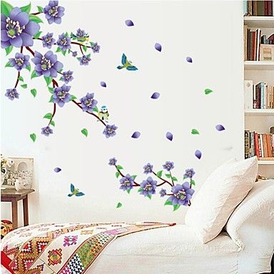 Botanical Romance Wall Stickers Plane Wall Stickers Decorative Wall Stickers  Material Re Positionable Home Decoration Wall Decal Part 93
