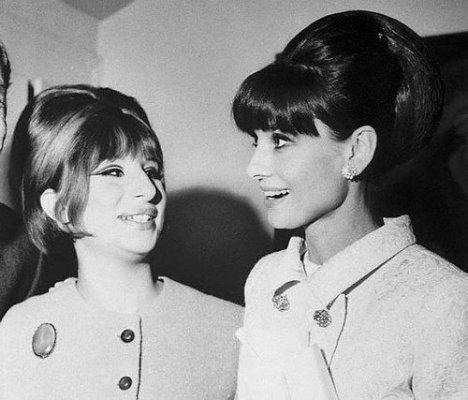Barbra Streisand and Audrey Hepburn