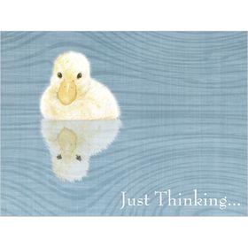 B034 Just Thinking Gift Card.  www.gailscards.com.au