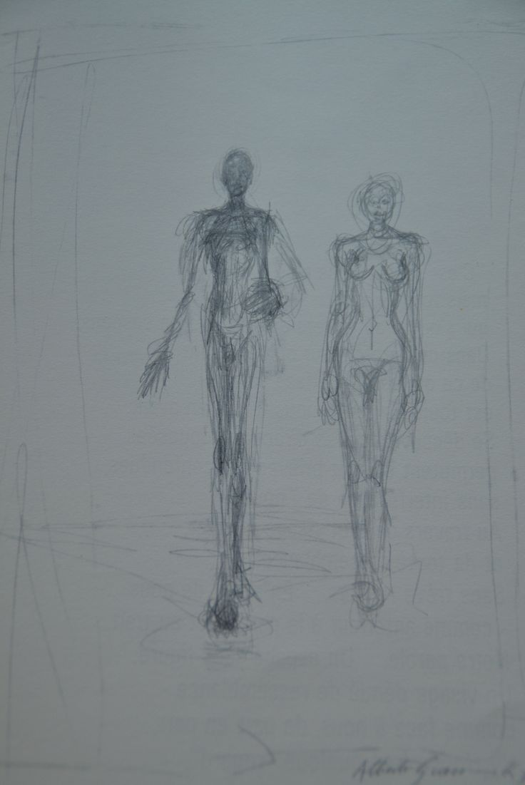 Alberto Giacometti - Couple (recto) (1962)