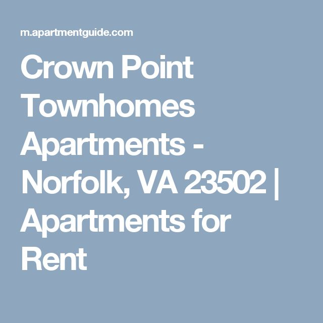 Crown Point Townhomes Apartments - Norfolk, VA 23502 | Apartments for Rent