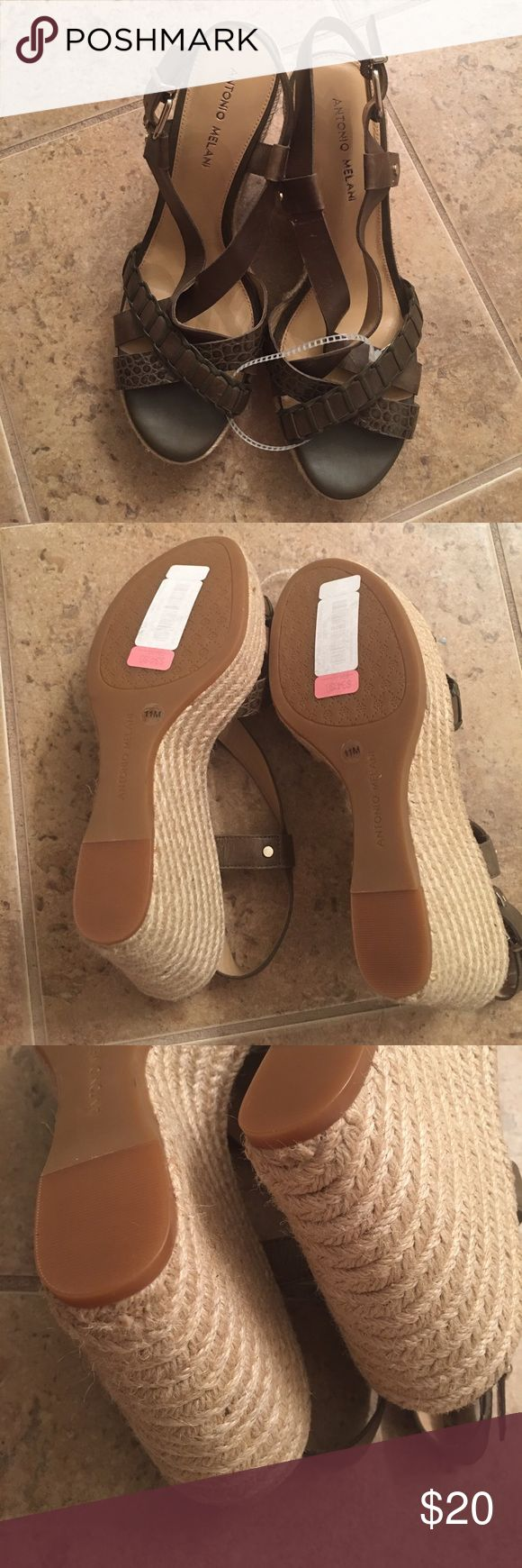 Olive Green Espadrilles Never been worn! ANTONIO MELANI Shoes Espadrilles