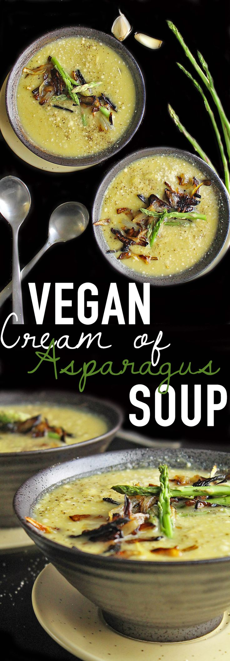 This vegan Cream of Asparagus Soup has everything you want: rich, creamy, and full of flavor. Bonus: it's filled with hidden vegetables for a super healthy, delicious meal!
