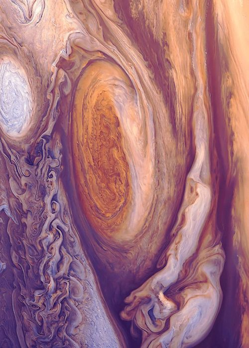 Jupiter's Great Red Spot — You could cram more than 1300 Earths inside Jupiter and still have room to spare.