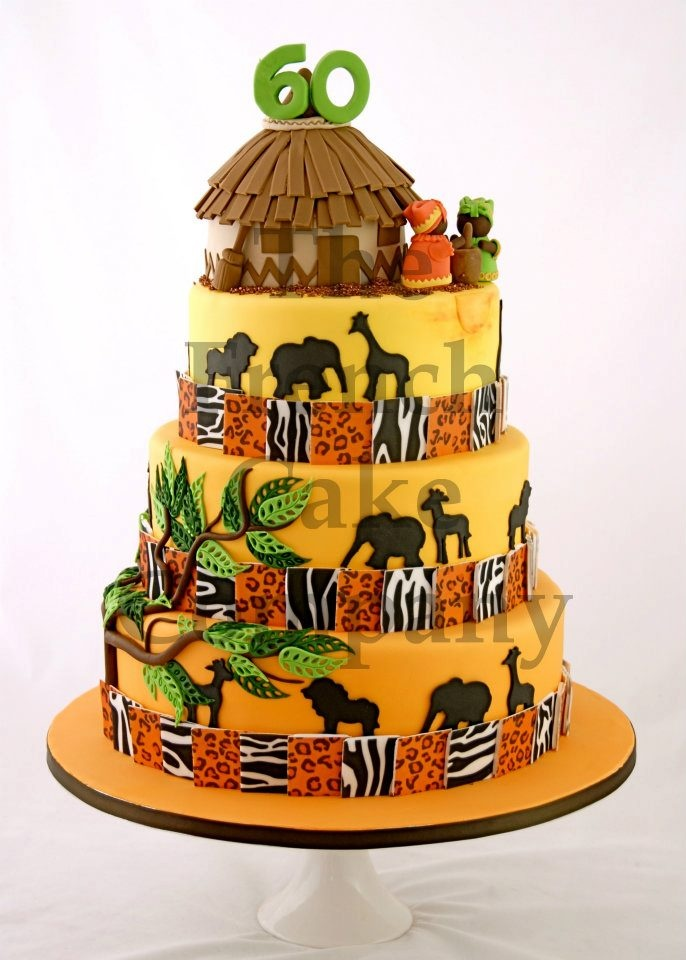 Idea for my mumd 60th cake as she wants to go on a safari!