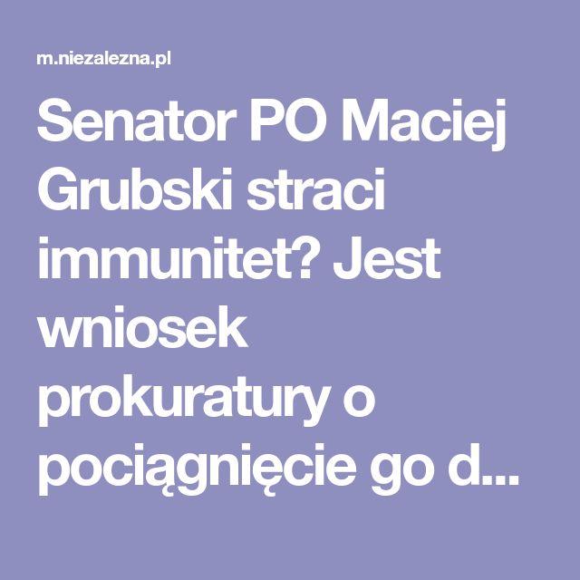 Senator PO Maciej Grubski straci immunitet? Jest wniosek prokuratury o pociągnięcie go do odpowiedzialności karnej   Niezależna
