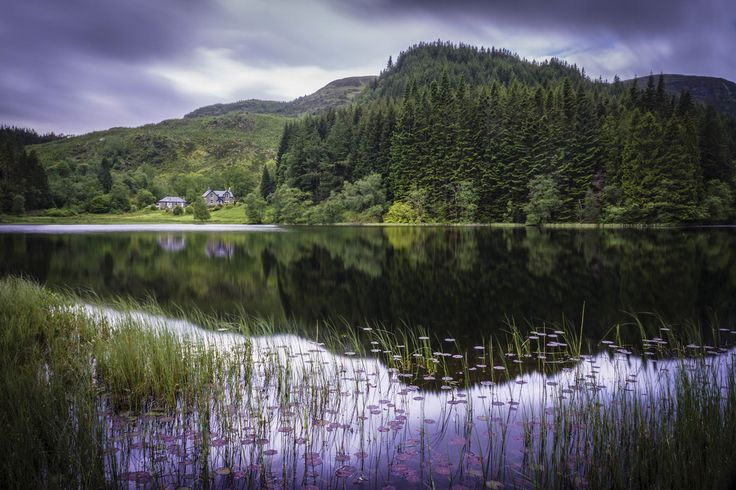 Scenic view of Loch Chon, The Trossachs.