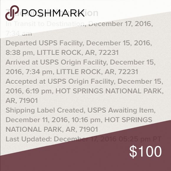 Shipping Info Poshmark Shipping Status Other