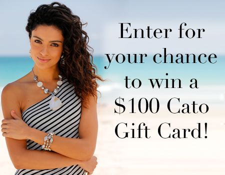 Want a chance to win a $100 @CatoFashions gift card?