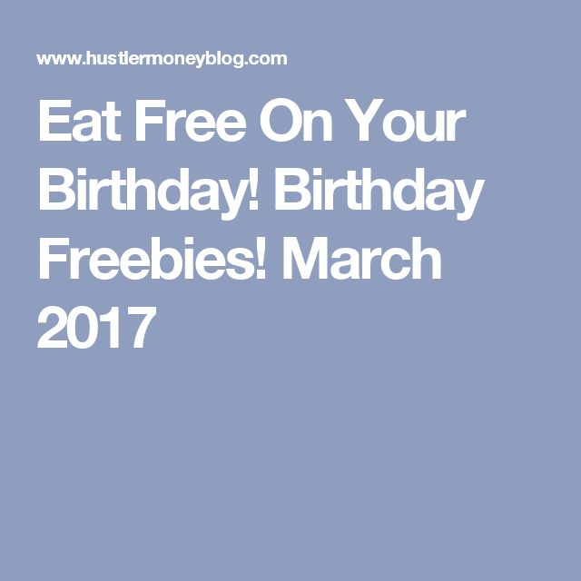 Freebies on your birthday toronto
