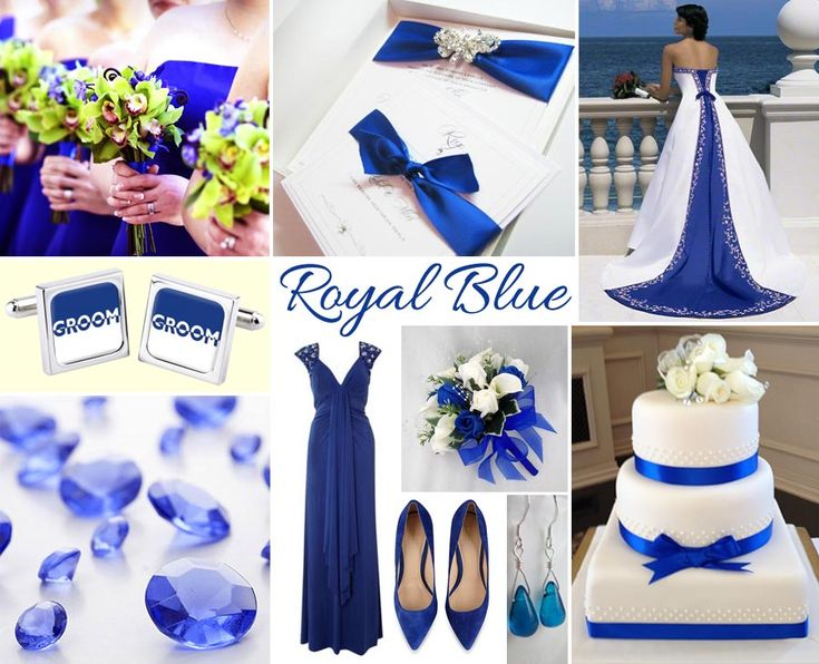 Cobalt Blue And Silver Wedding Decorations : Wedding Cream Thoughts White  Color