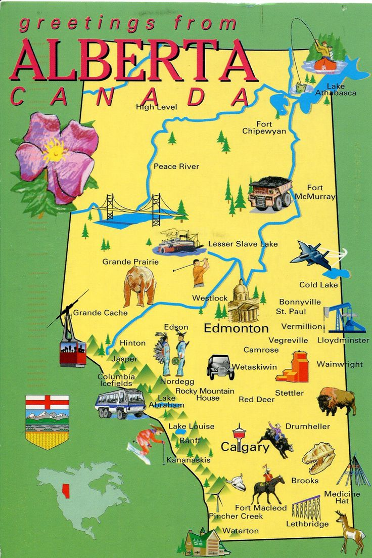 Alberta, Canada - map. Family owns land in this sector of Canada. Beautiful land!