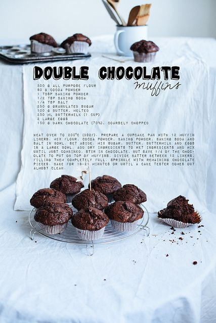 Double chocolate muffins by Call me cupcake, via Flickr