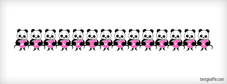 LOVE-PANDA Facebook Cover | Facebook Cover Photo Maker | LOVE-PANDA Style