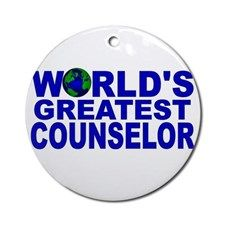 World's Greatest Counselor Ornament (Round) for