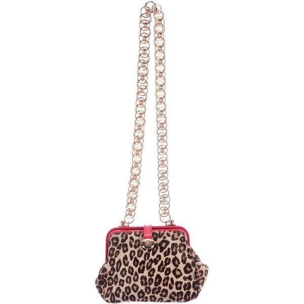 Pre-owned Alexander McQueen Leopard Shoulder Bag (2,925 CNY) ❤ liked on Polyvore featuring bags, handbags, shoulder bags, animal print, handbag purse, hand bags, man shoulder bag, chain shoulder bag and chain strap purse