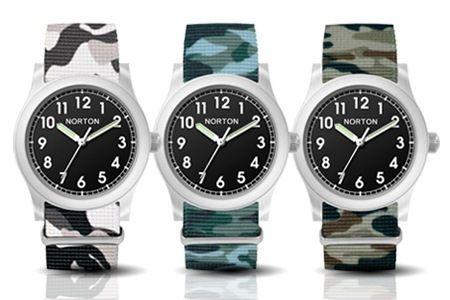 #Groupon #shopping #camouflage Gli orologi Norton sono ideali per chi ama lo stile sportivo e casual senza rinunciare ad accessori alla moda. Scegli il colore fra quelli disponibili: petrolio, verde e grigio.