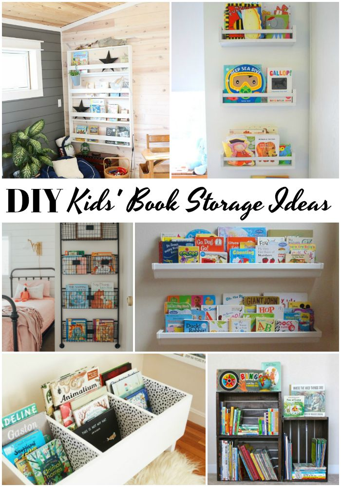 Diy Book Storage For Kids Diy Books Rack Ikea Spice Racks As