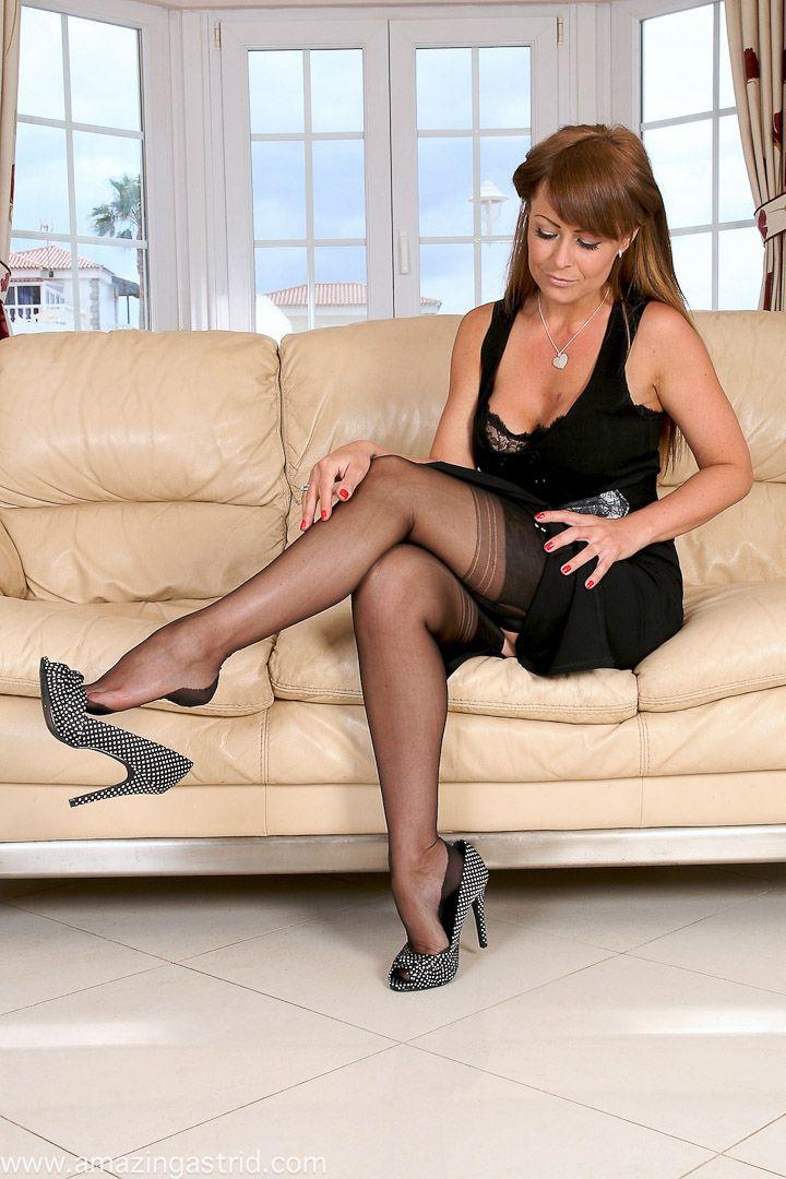Black Stocking High Heel Shoe Play