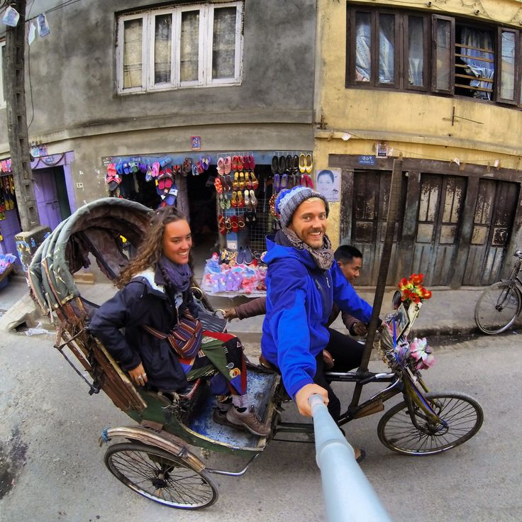 This is what happens when you hijack a rickshaw in Kathmandu, Nepal and then photograph yourself whilst riding it with a GoPro on a GoPole! #travel #gopro #gopole #nepal