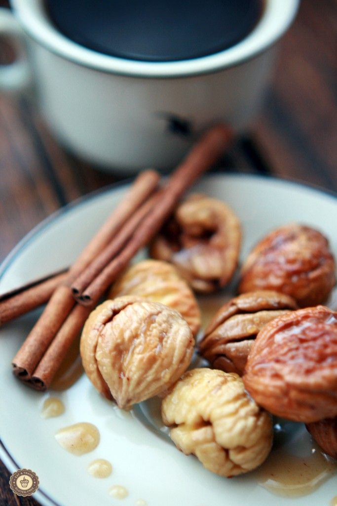 Roasted chestnuts with cinnamon honey