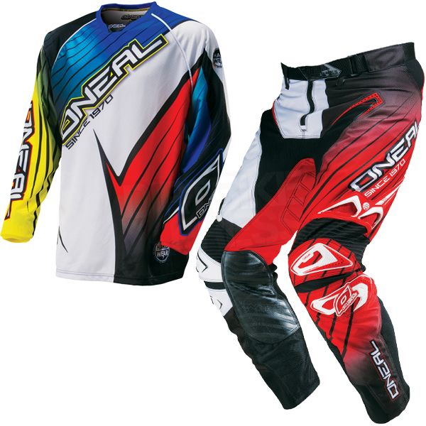 2016 ONeal Hardwear Racewear Kit Combo - Blue Yellow Red
