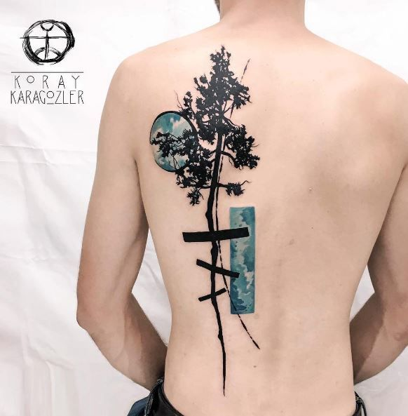 Abstract Redwood Tattoo