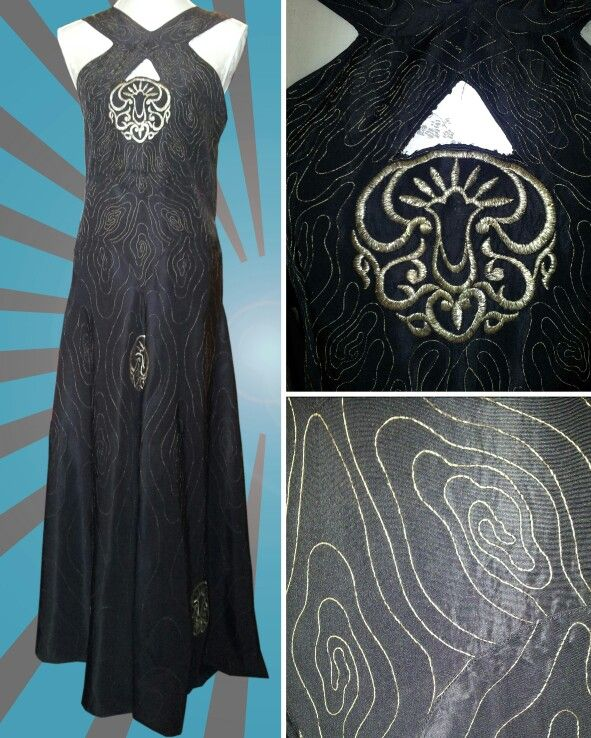 Stunning Original Early 1930's Art Deco Gold Embroidered Full Length Evening Gown!!! #inlove xx
