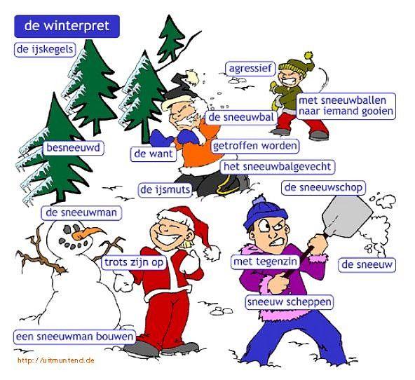 Woordenschat :  de winterpret