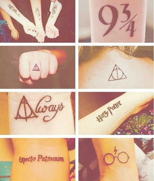 HP tattoos. Whyy would you get death eater tattoos?