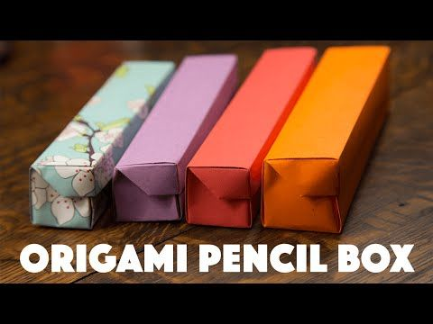 Origami Pencil Box Video Tutorial - Paper Kawaii