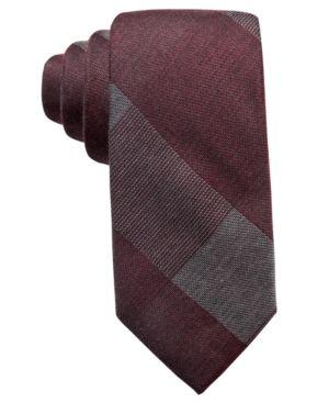 Ryan Seacrest Distinction Men's Addison Plaid Slim Tie, Created for Macy's - Purple