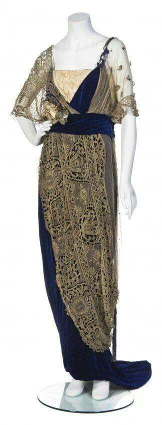 Maison Worth gown 1910. #fashion #vintage