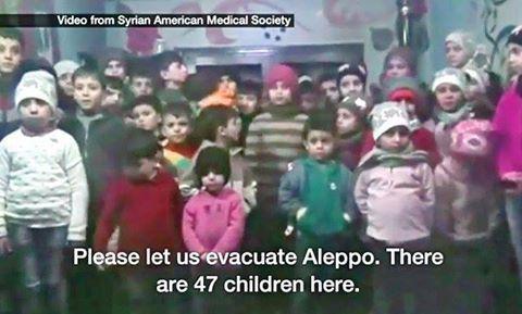 Evakuasi 47 yatim Aleppo yang dehidrasi  Cuplikan dari video yang direkam oleh Syrian American Medical Society (Arab News)  Kepala Regional UNICEF Geert Cappelaere mengatakan Sekitar 47 anak yang terjebak di sebuah rumah yatim piatu di Aleppo timur telah dievakuasi pada Senin (19/20). Beberapa diantaranya mengalami luka serius dan banyak yang mengalami dehidrasi. Mereka dievakuasi oleh Palang Merah Arab Suriah (SARC) dan Palang Merah Internasional (ICRC) bersama dengan staf yang bekerja di…