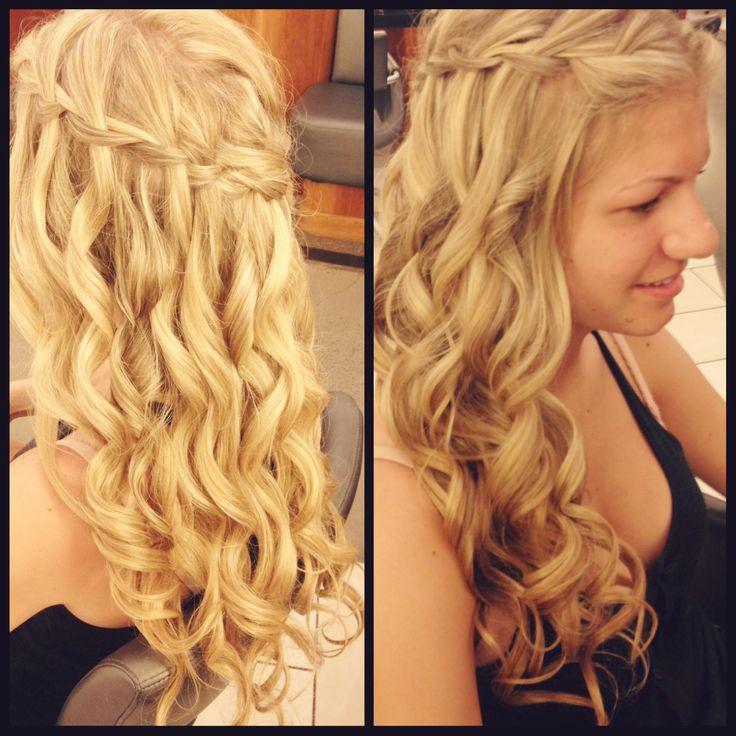 The Bridal Waterfall Braid.   #hair #hairstyle #bridalhair #wedding  www.donato.ca