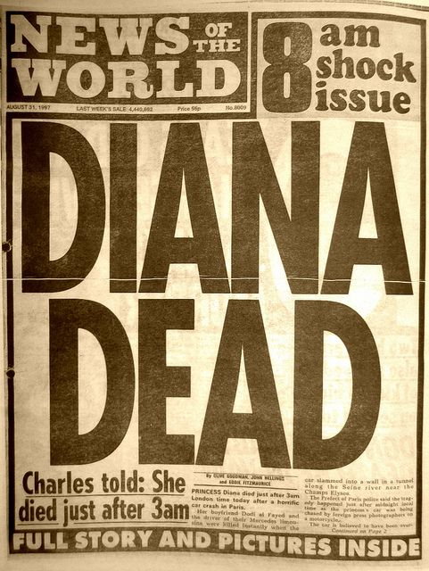 News of the World: DIANA DEAD