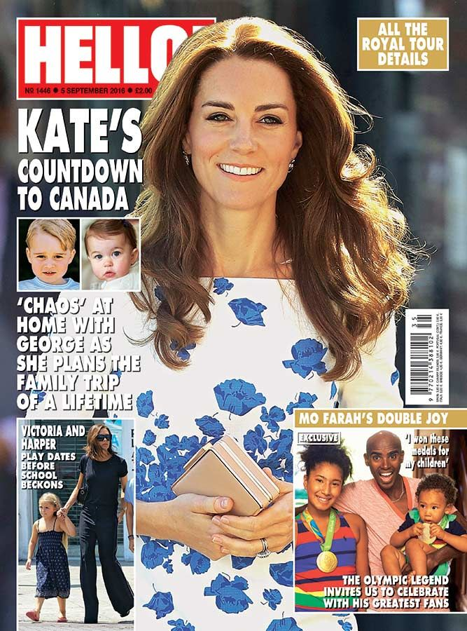 """HELLO! on Twitter: """"Check out Kate's countdown to Canada in our latest issue, out now!"""