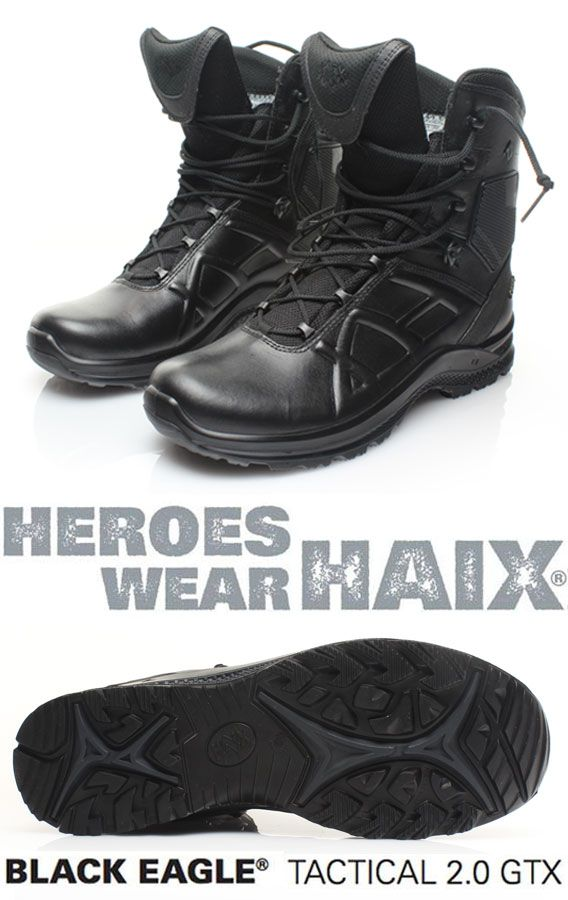 Haix®, Black Eagle Tactical 2.0. GTX , €179.90  Leather, waterproof and extremely breathable with GORE-TEX® Extended!  CE EN ISO 20347:2012 O2 HRO HI CI WR FO SRC