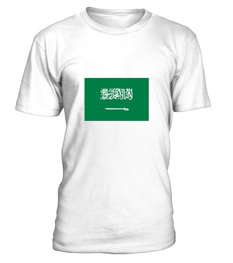 # National flag of Saudi Arabia .  Get this BEST-SELLING T-ShirtCHECK OUT OUR SHOP!Guaranteed safe and secure payment with:Best quality on the market, great selection of colors and styles!The Kingdom of Saudi Arabia is an absolute monarchy. The two holiest sites in Islam, the Kaaba in Mecca and the resting place of the Prophet Muhammad in Medina are here.(Monarchy, flag, Asia, Middle East, Saudi Arabia, Islam, Riyadh, Mecca, Medina, Jeddah)